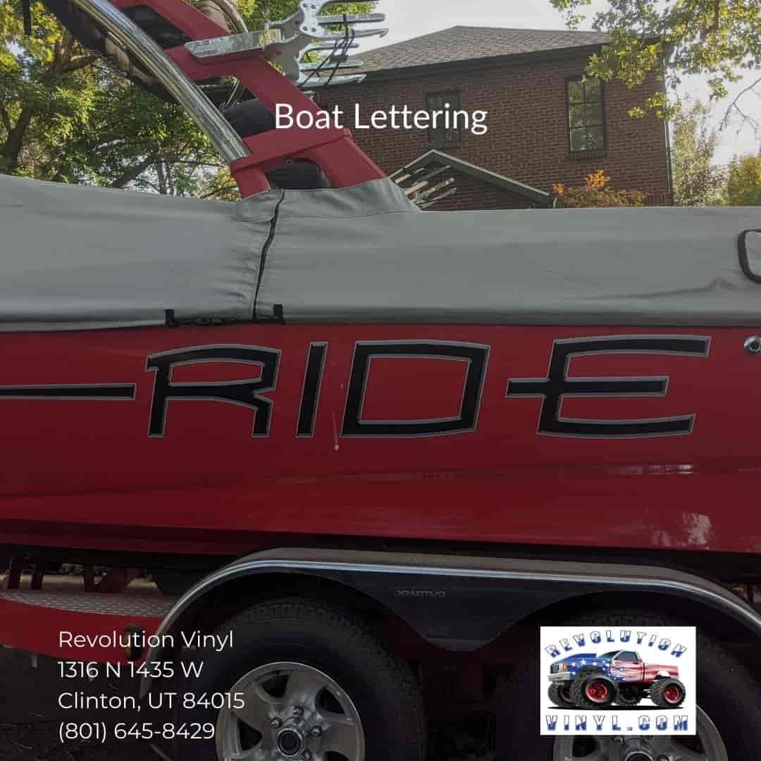 custom vinyl Boat wraps - Revolution Vinyl